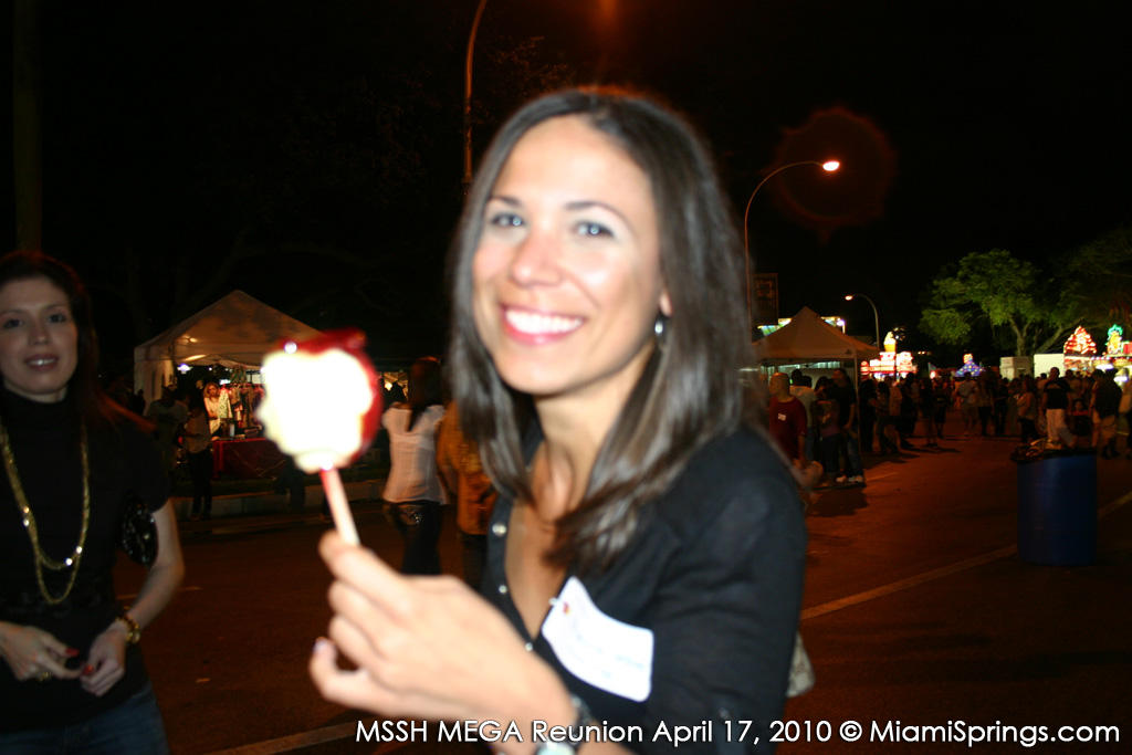 Prescilla Hellwig Enjoying a Candy Apple
