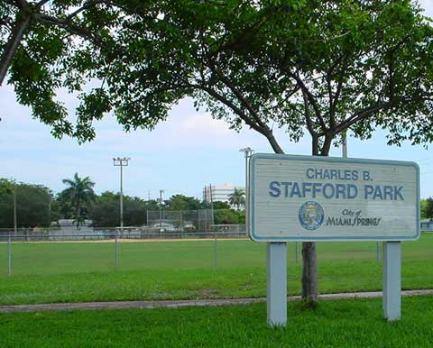 Charles B. Stafford Park Across from Miami Springs Middle School