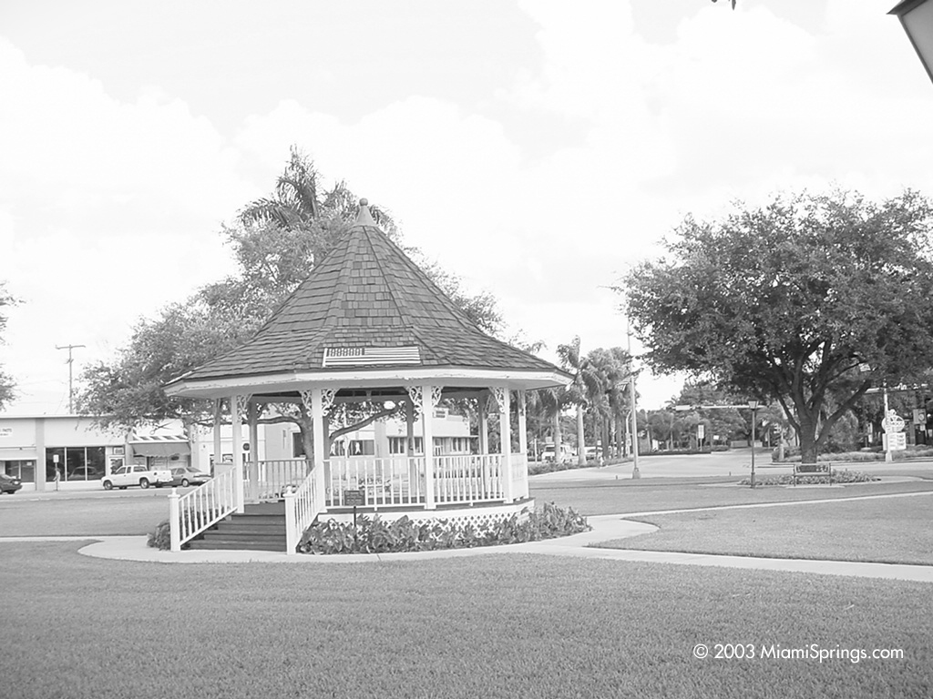 Miami Springs Circle and Gazeebo