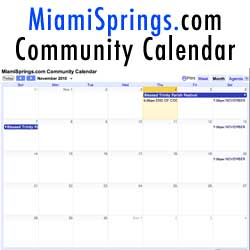 Miami Springs Community Calendar