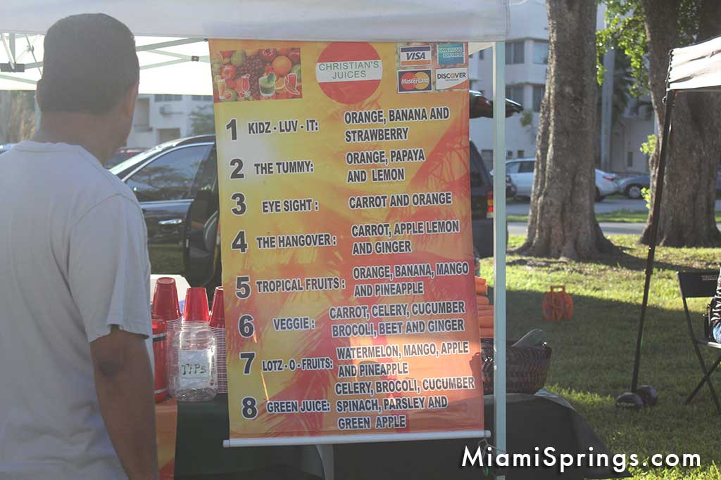 Christian's Juices at the Miami Springs Farmers Market
