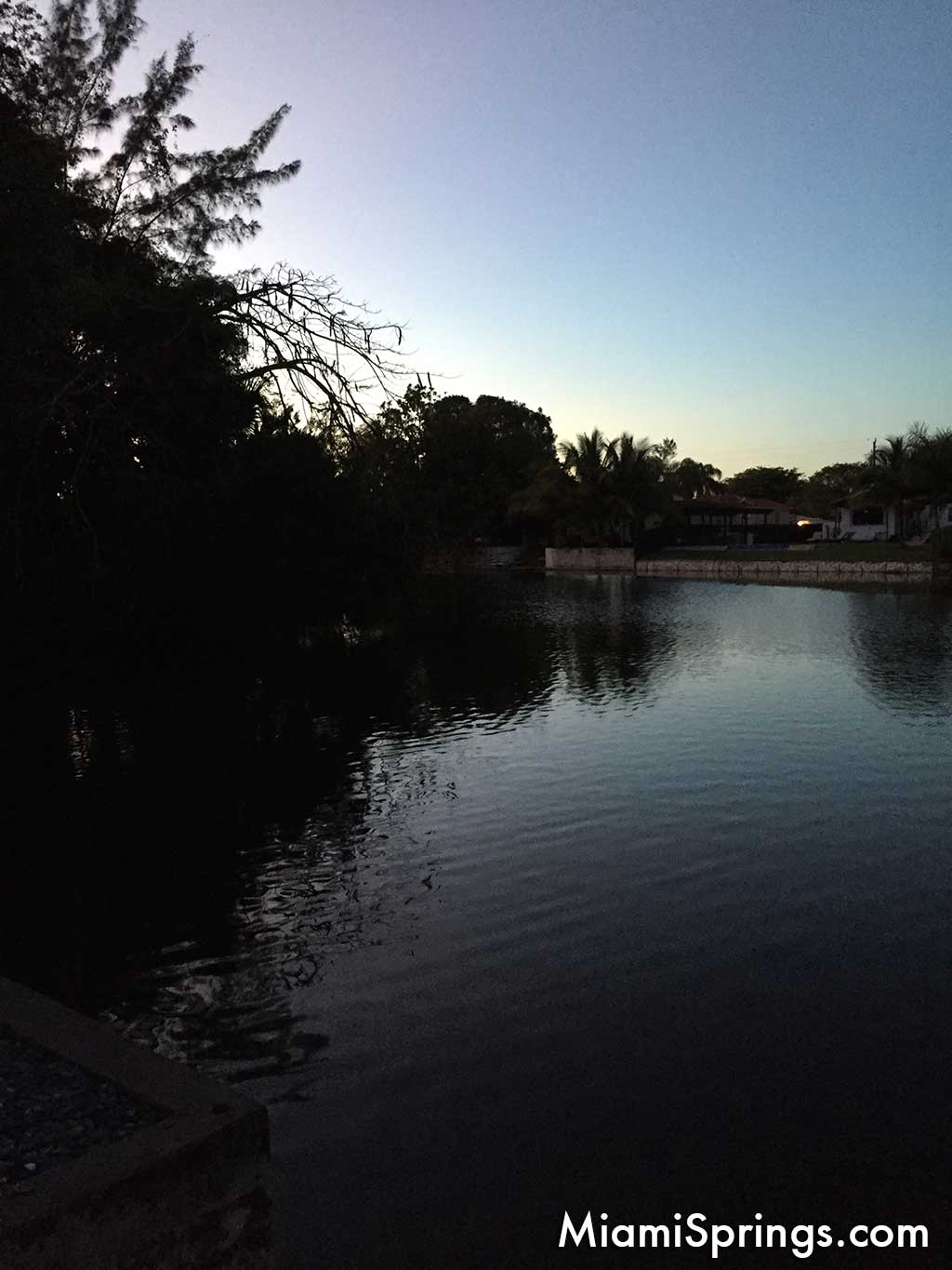 Lake view in Miami Springs