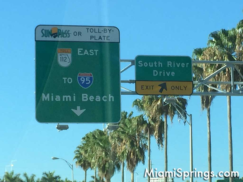 To Miami Springs from LeJeune Road