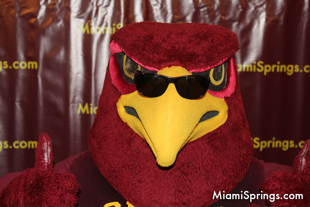 Miami Springs Senior High Mascot Hank the Hawk aka Goldie at the 2015 MSSH Mega Reunion