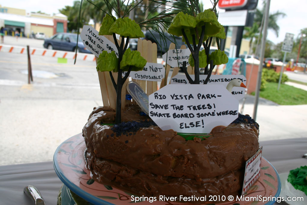 The Political Cake Candidate…Move the skate park away from Rio Vista Park and save those trees.
