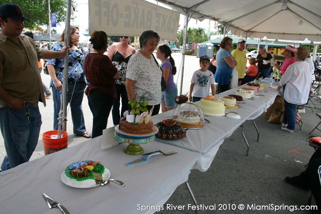 The Annual Cake Bake Off at the Springs River Festival